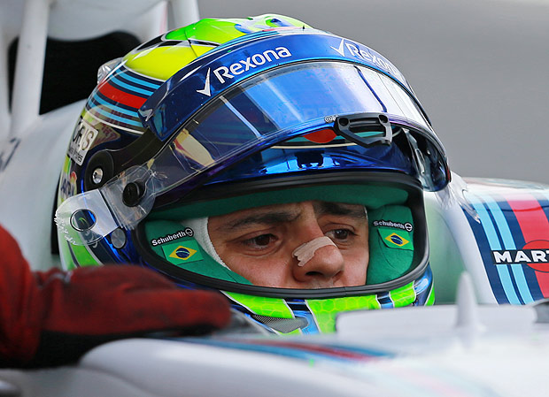 Williams driver Felipe Massa of Brazil sits in his car while waiting to leave the pits during the third practice session for the Formula One Mexico Grand Prix auto race at the Hermanos Rodriguez racetrack in Mexico City, Saturday, Oct. 31, 2015. (AP Photo/Christian Palma) ORG XMIT: MXDL107