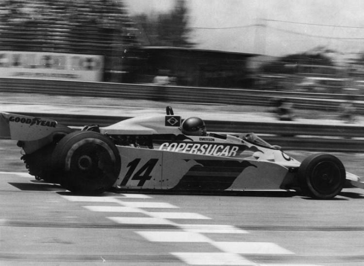 Emerson no GP do Brasil de 1978, quando conquistou o 2º lugar, melhor resultado da história de sua equipe (Folhapress)