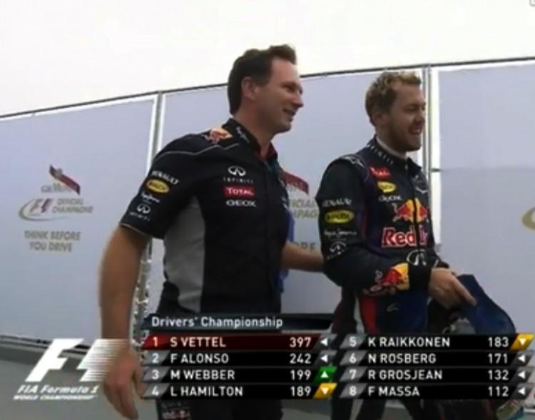 Novo sistema permitiu a Vettel marcar o recorde de 397 pontos em 2013 (FOM/Reprodução)