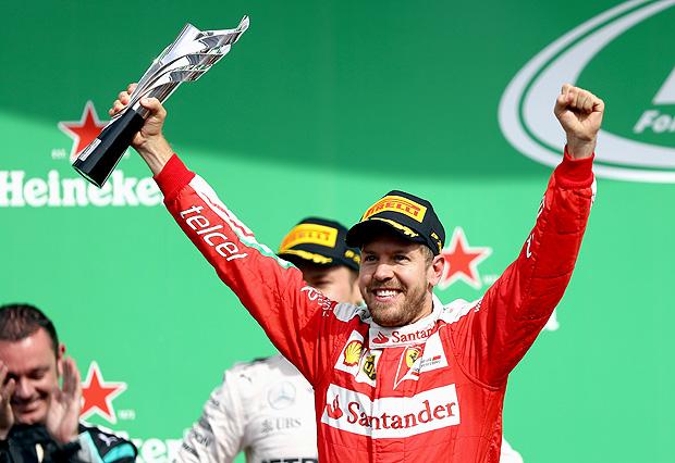 Limão, groselha ou tamarindo? No México, Sebastian Vettel chegou em quarto, subiu ao pódio em terceiro e terminou o dia em quinto (Clive Mason/Getty Images/AFP)