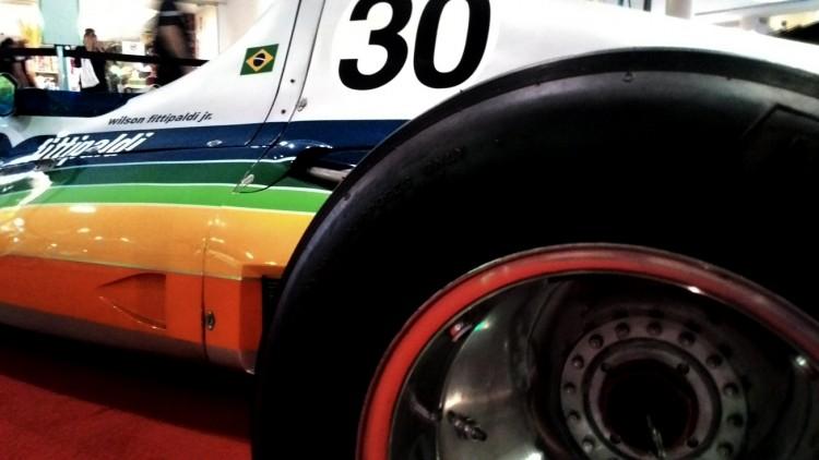 Detalhe do Copersucar-Fittipaldi FD01, o primeiro carro da equipe (Daniel Médici - mar.2015/Arquivo Pessoal)