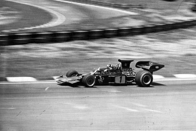 Emerson Fittipaldi, da Lotus, em 1973 (Acervo UH/Folhapress)