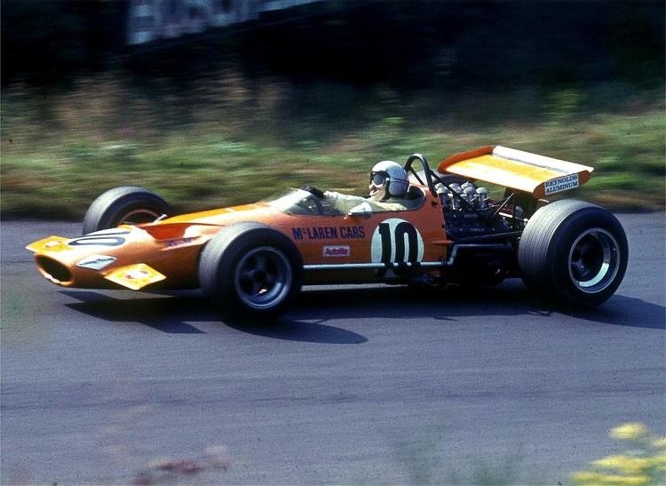 Bruce McLaren em Nürburgring, 1969, durante o GP da Alemanha (Lothar Spurzem/Wikimedia Commons)